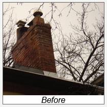 Chimney Rebuild 2 Before